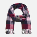 Joules Women's Bracken Soft Handle Scarf - Blue Pink Check
