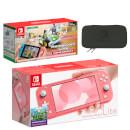Nintendo Switch Lite (Coral) Mario Kart Live: Home Circuit - Luigi Set Pack