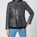 MICHAEL MICHAEL KORS Women's Belted Packable Puffer Coat - Black/White