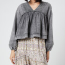 Free People Women's Charlotte Denim Blouse - Black Wash