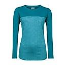 Women's Voyager Tech Tee Long Sleeve Crew - Turquoise