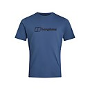 Men's Organic Big Colour Logo T-Shirt - Blue