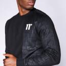 Men's Eclipse Cut And Sew Mixed Fabric Sweatshirt - Black
