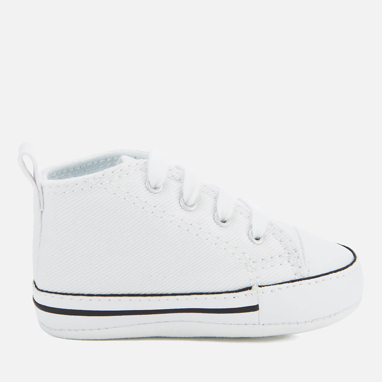 614dd258e6 Converse Babies Chuck Taylor First Star Hi-Top Trainers - White ...