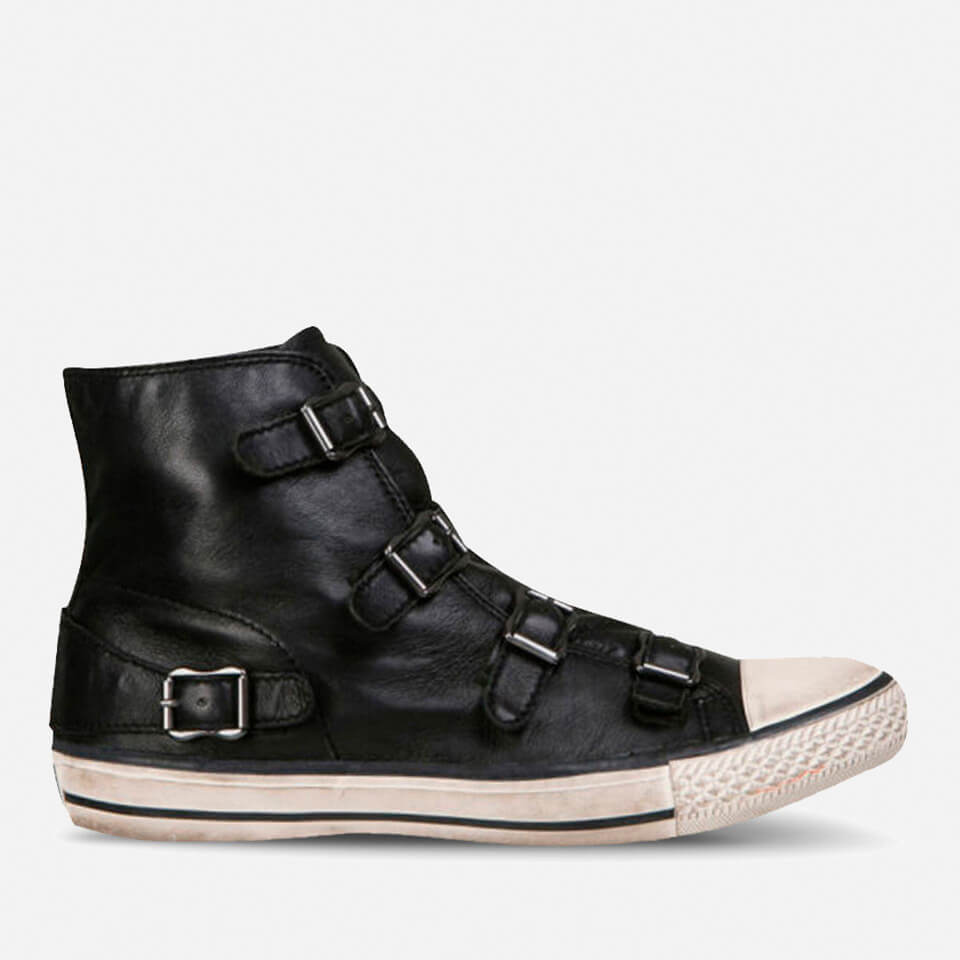d60ef72da52ec Ash Women s Virgin Leather Hi-Top Trainers - Black