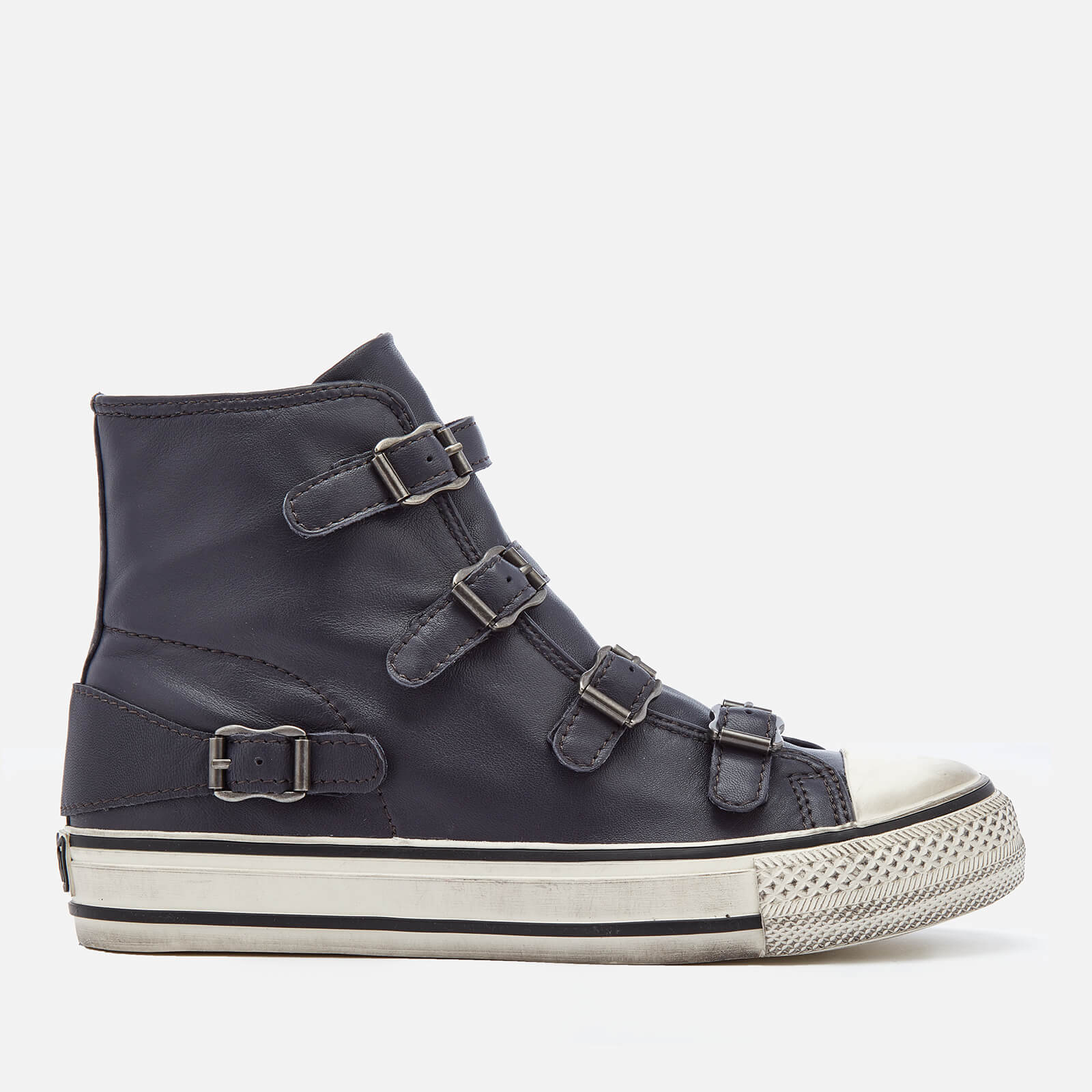 10078def1f90f Ash Women s Virgin Leather Hi-Top Trainers - Graphite