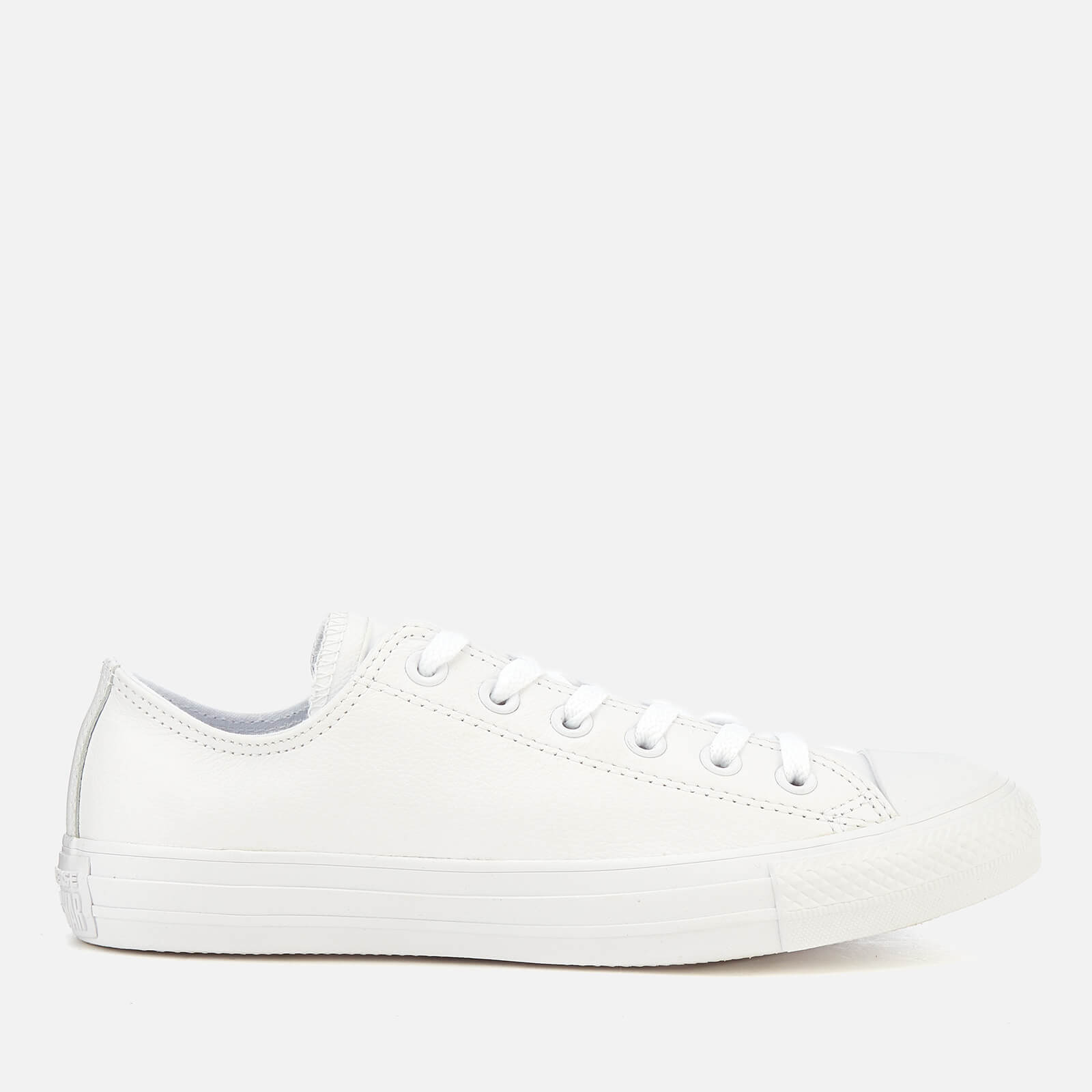 f3acdc9a0f43 Converse Chuck Taylor All Star Ox Leather Trainers - White ...