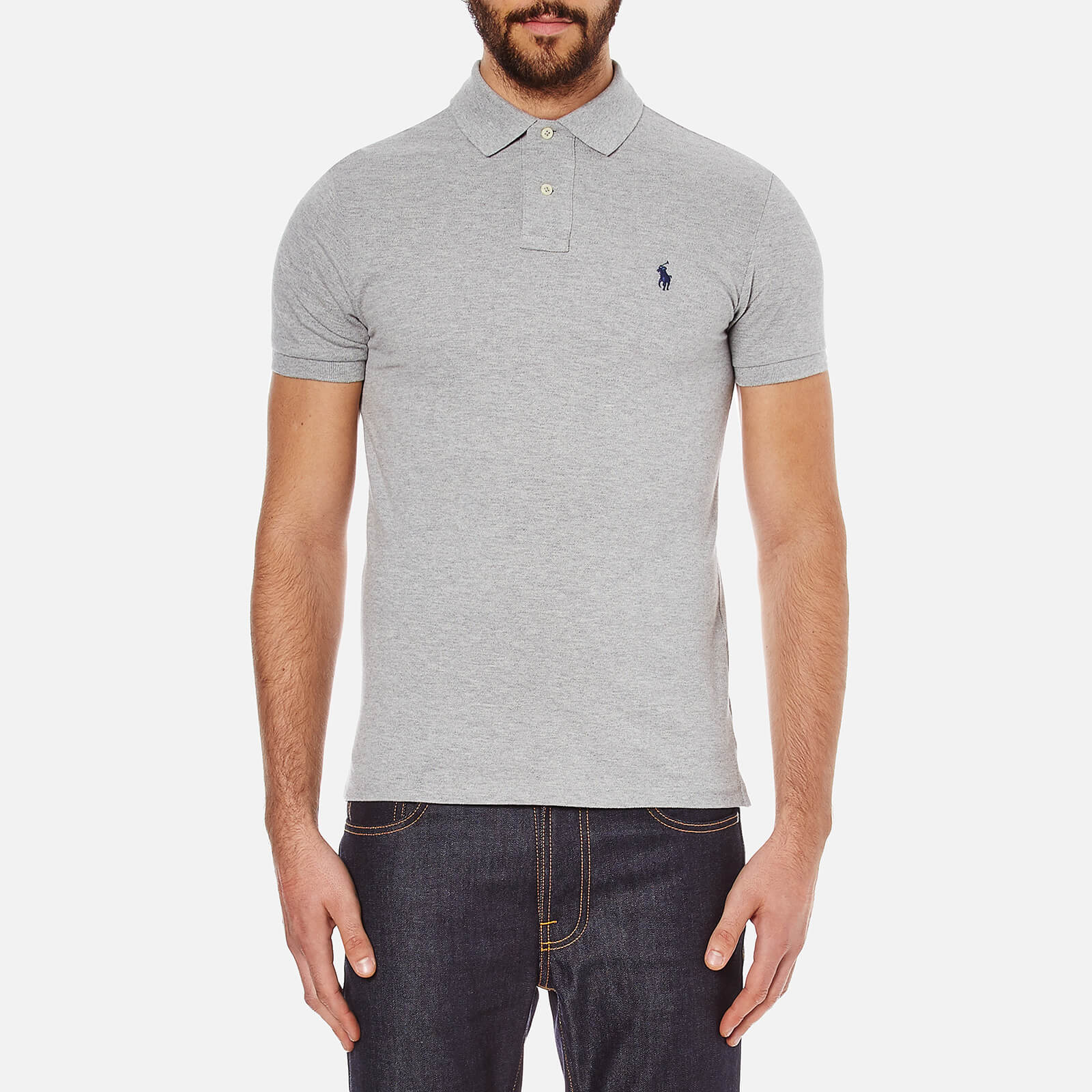 Polo Ralph Lauren Men's Slim Fit Short Sleeved Polo Shirt - Andover Heather