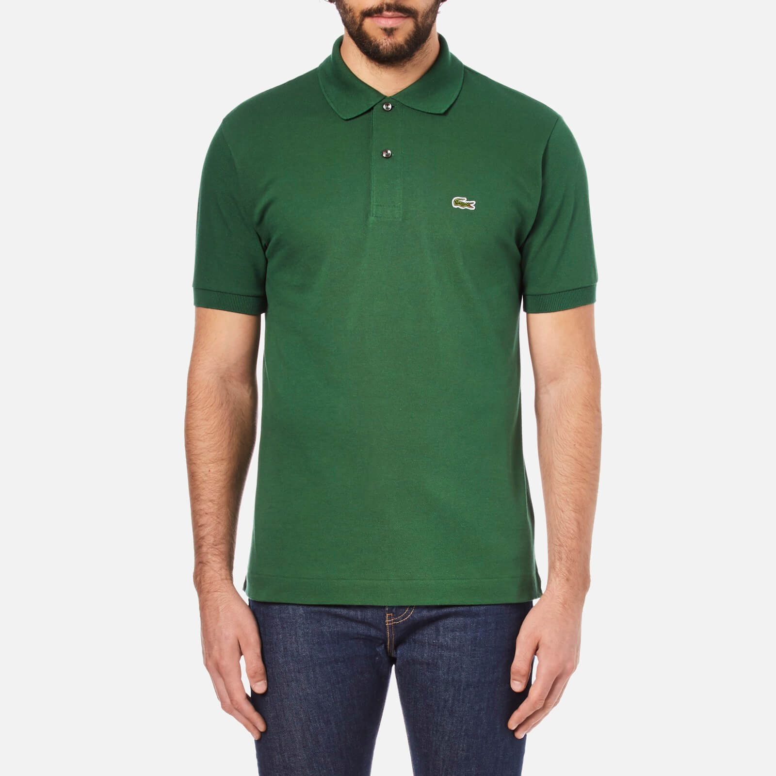 d5797fe48828 Lacoste Men s Short Sleeve Pique Polo Shirt - Chlorophyll