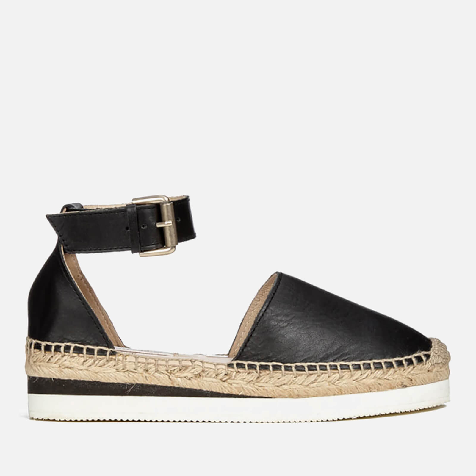 946f359975 See By Chloé Women's Leather Espadrille Flat Sandals - Black