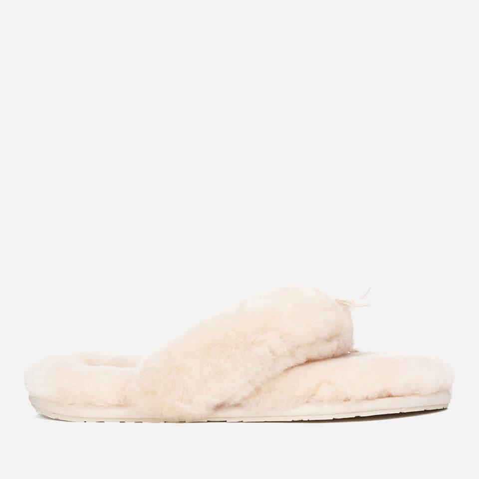 241b3486cd05 UGG Women s Fluff Flip Flop II Slippers - Natural