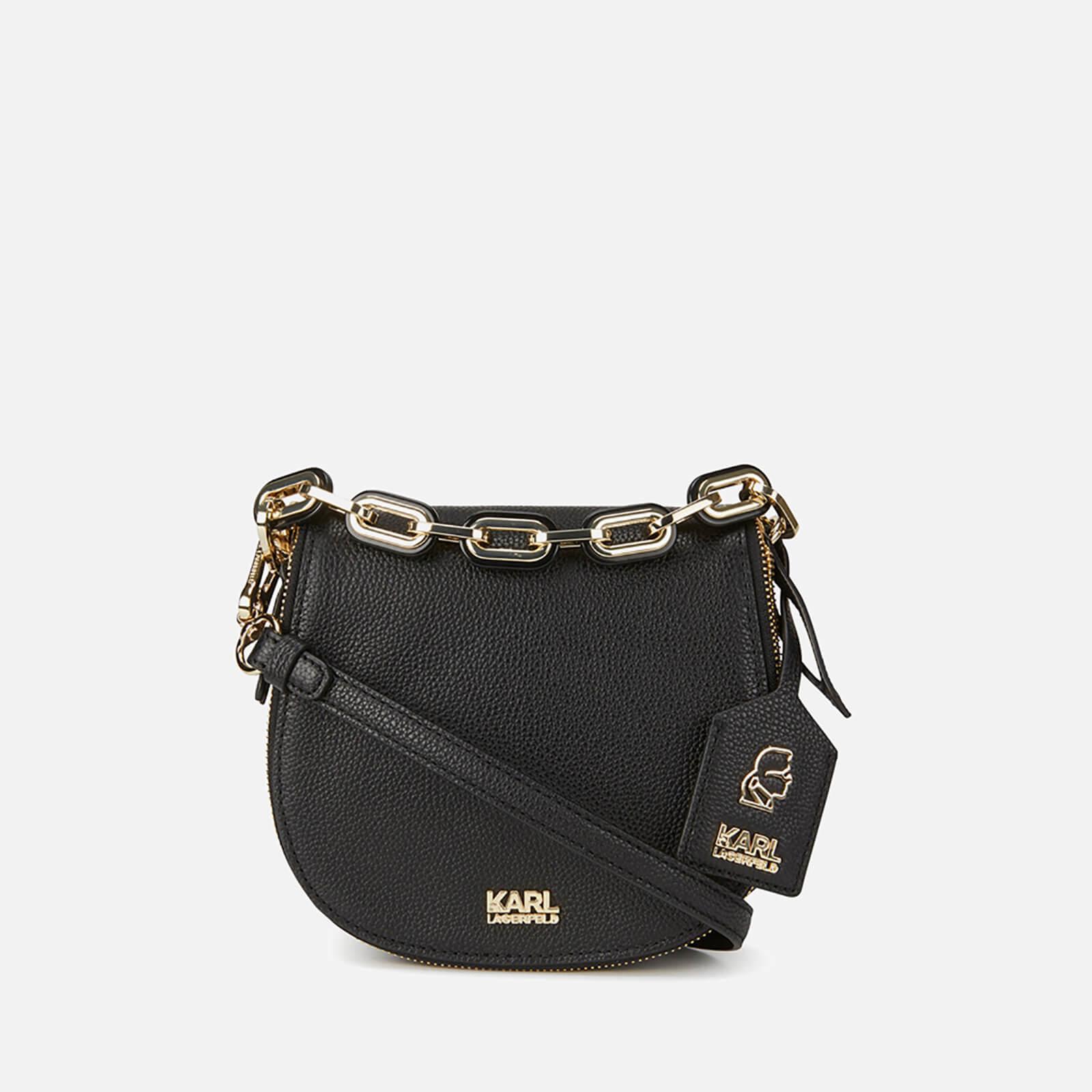 Karl Lagerfeld Women s K Grainy Satchel Bag - Black 73d8b842c0989