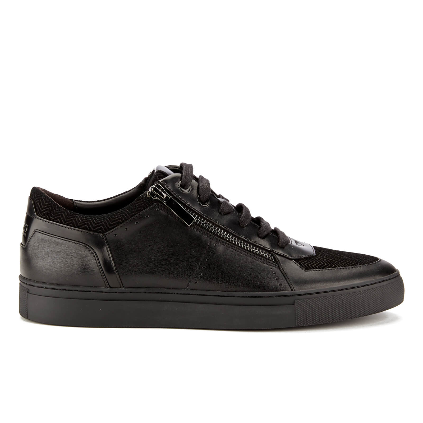 3a06cbb8b6 HUGO Men's Futurism Leather Low Top Trainers - Black | FREE UK ...