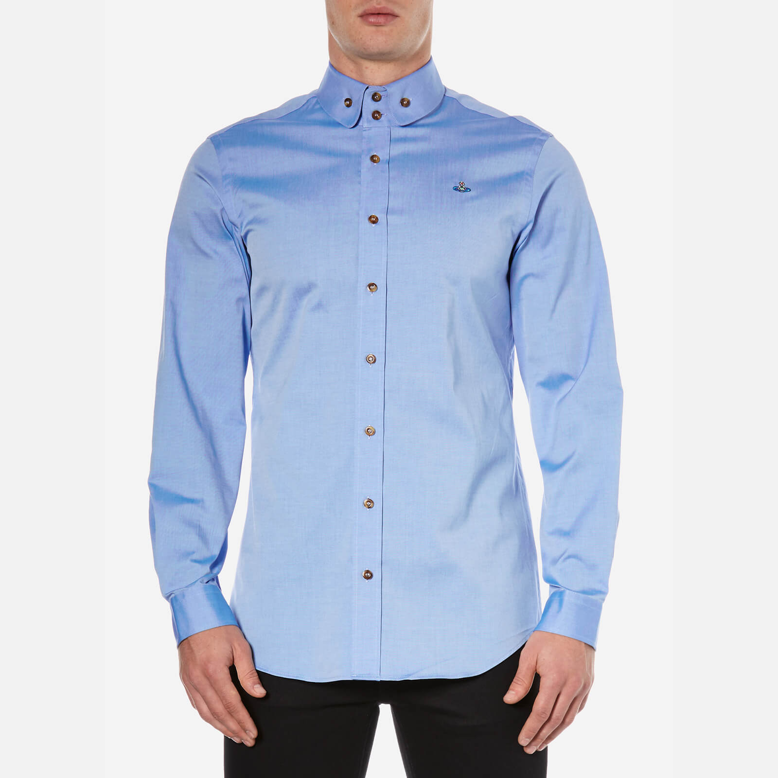 Vivienne Westwood MAN Men's Classic Oxford Two Button Shirt - Light Blue -  Free UK Delivery over £50