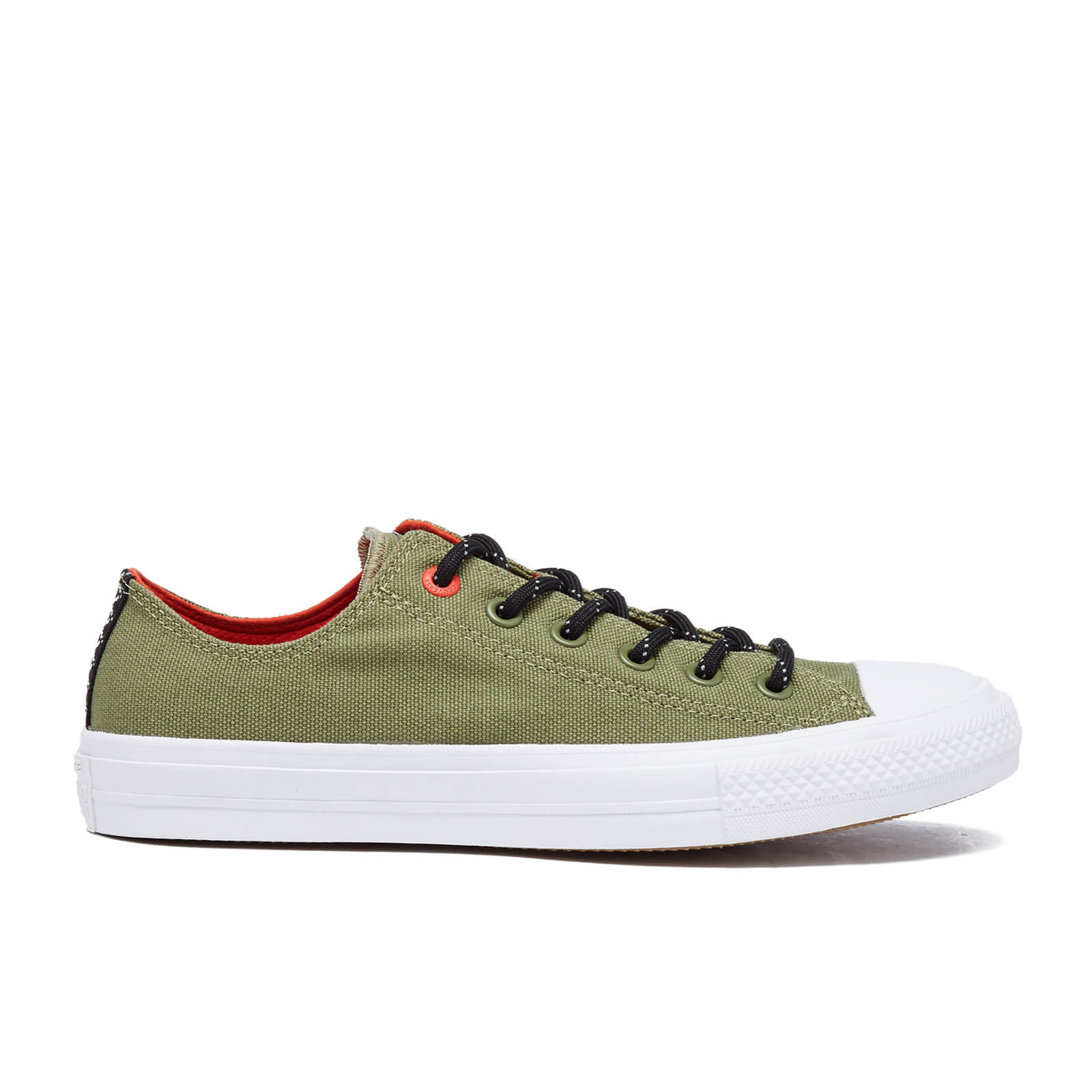 Converse Men s Chuck Taylor All Star II Shield Canvas Low Top Trainers - Fatigue  Green Signal Red  d6515c2ce