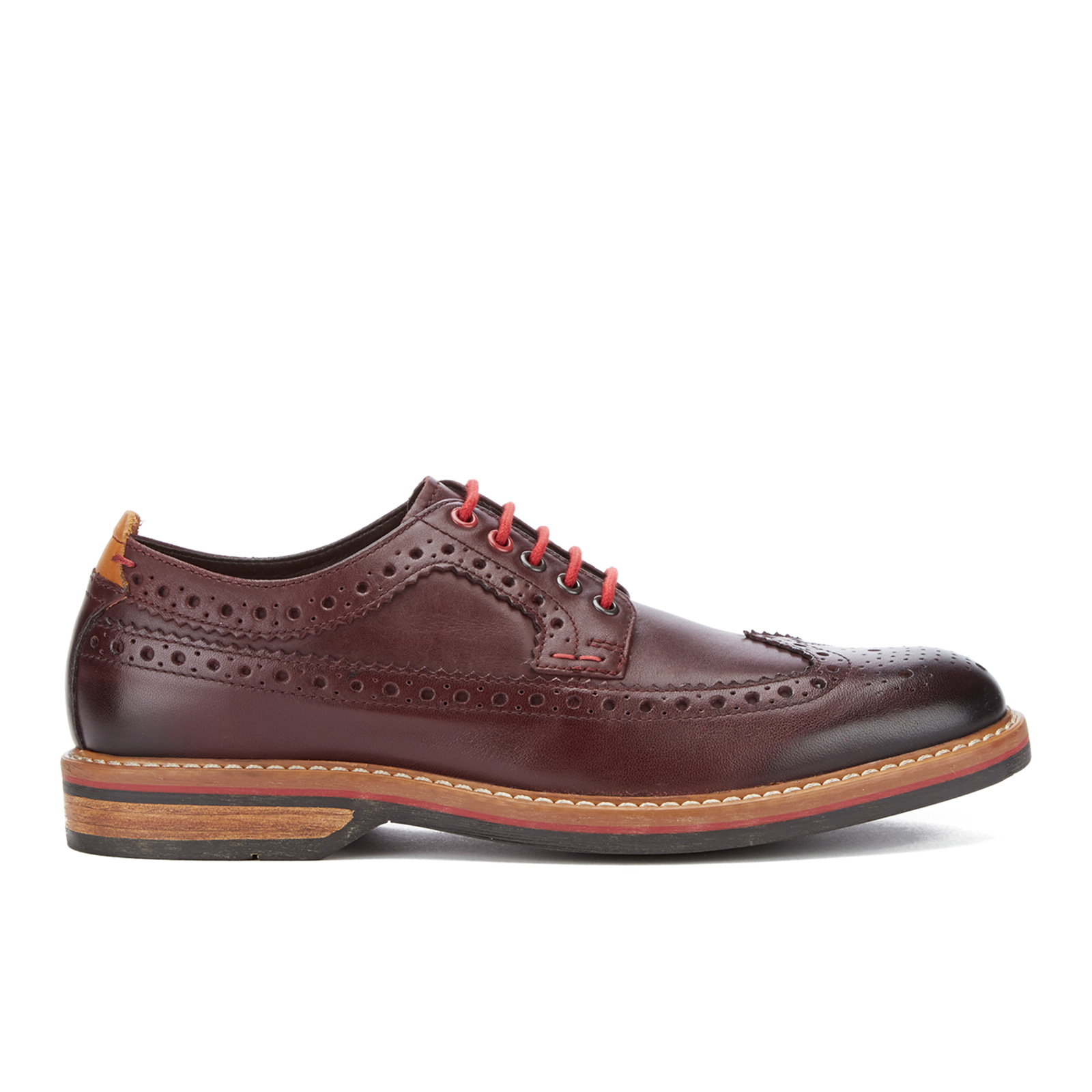 Clarks Men s Pitney Limit Leather Brogues - Chestnut  3c42ac18f93