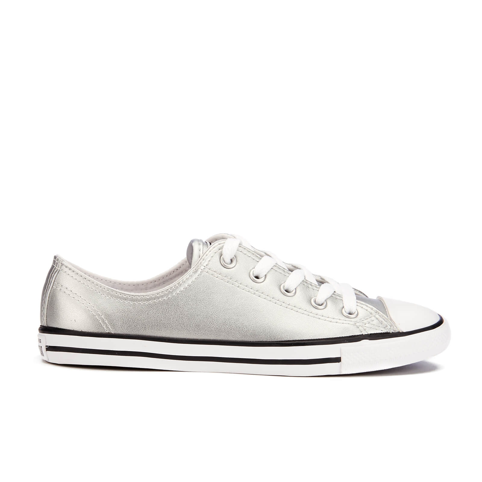 0a8cc547ddb3 Converse Women s Chuck Taylor All Star Dainty Ox Trainers - Silver ...