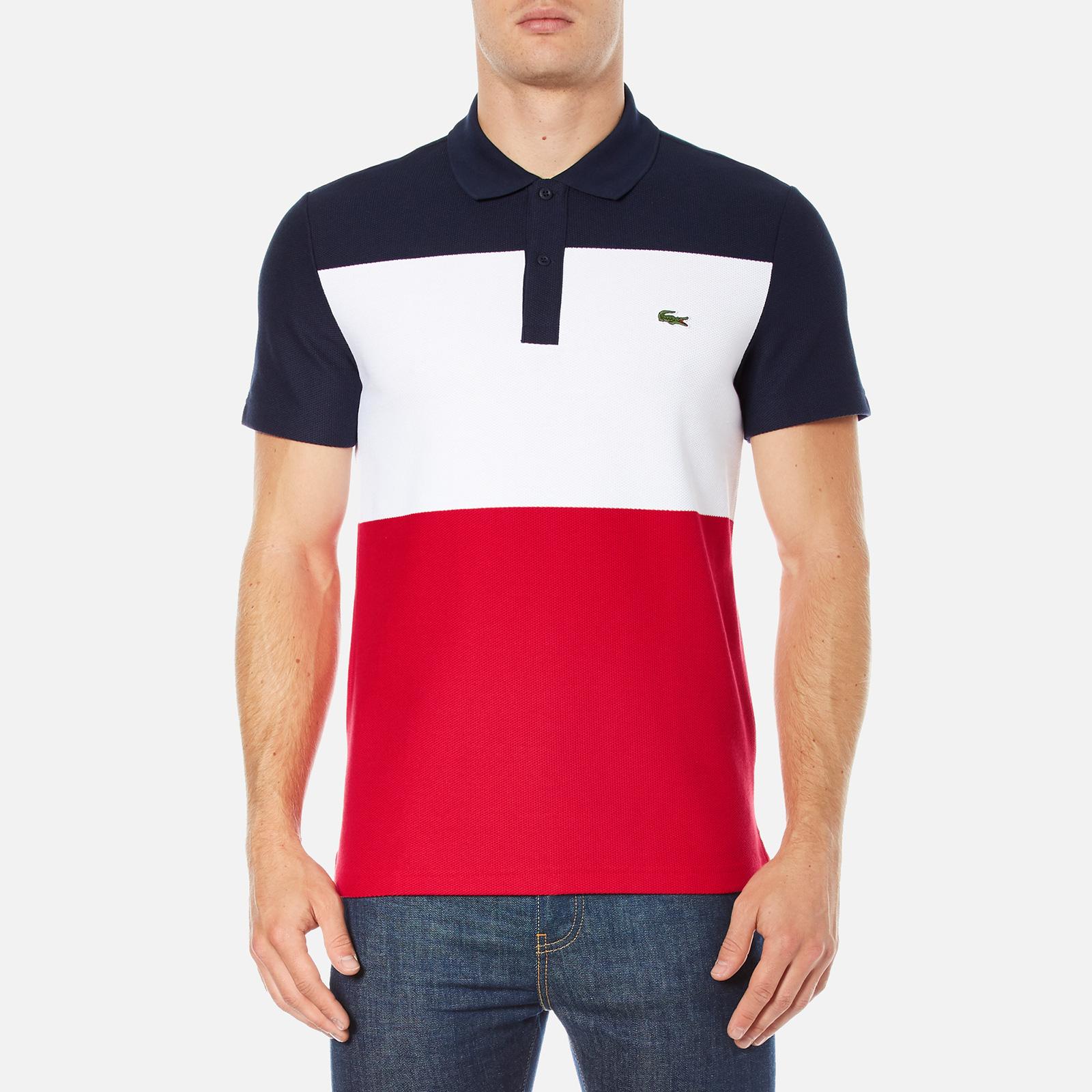 bf0a8e4cedf new zealand lacoste mens short sleeve bold stripe polo shirt navy blue white  a8869 0b0eb