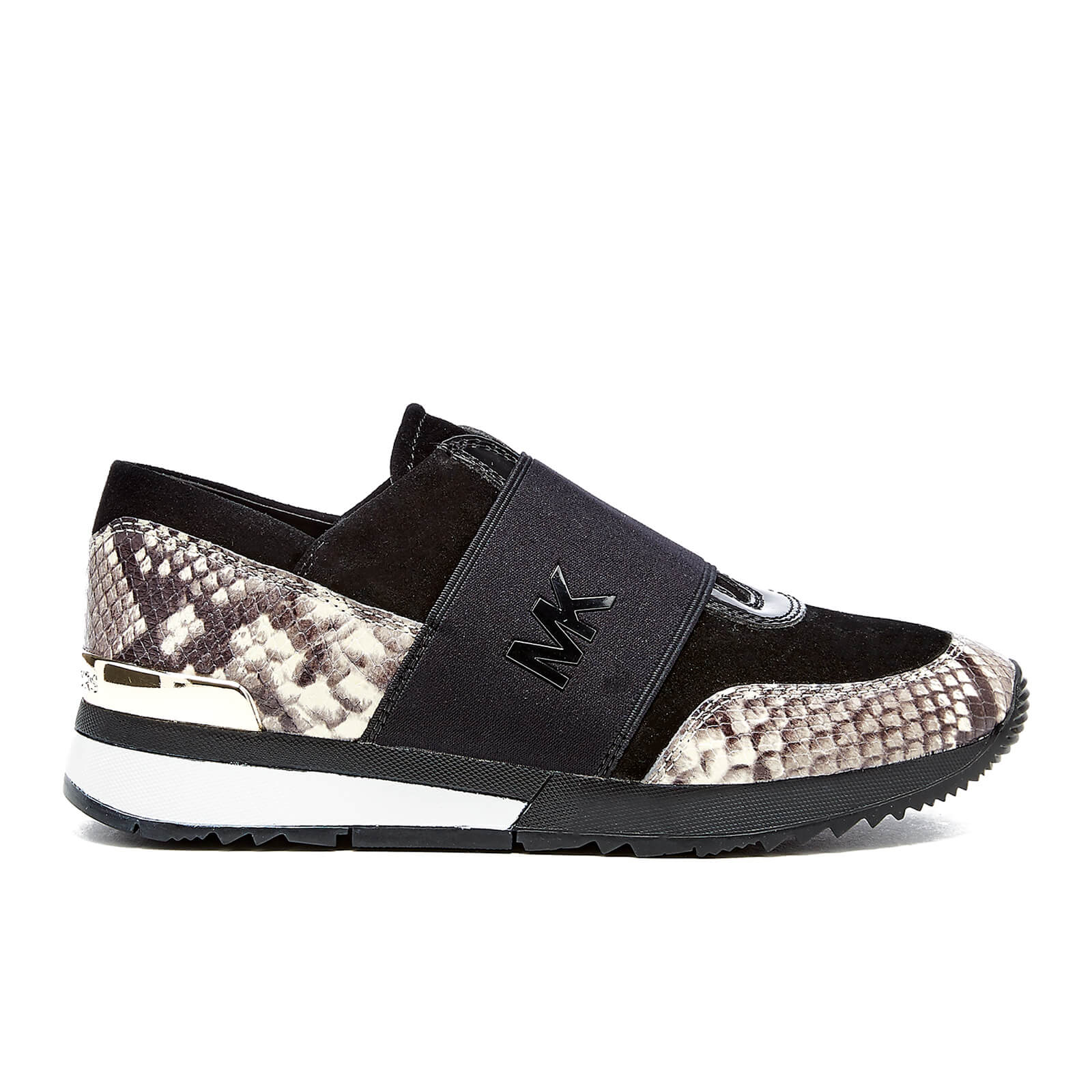 MICHAEL MICHAEL KORS Women s MK Embossed Snake Trainers Natural