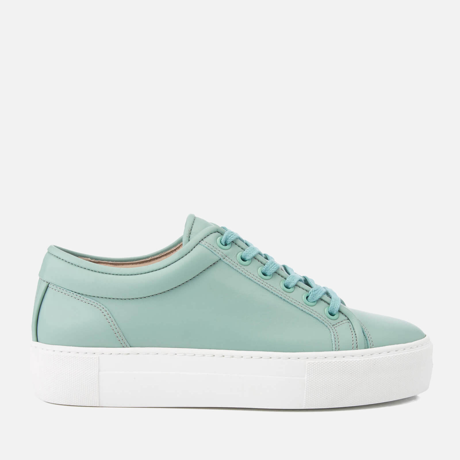 Women's Low Top 1 Rubberized Leather Trainers - Mint Stacked