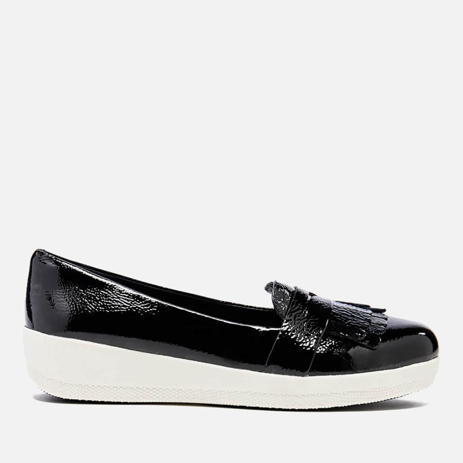 a1f2f36fc45 FitFlop Women s Fringey Sneakerloafer Loafers - Black Patent