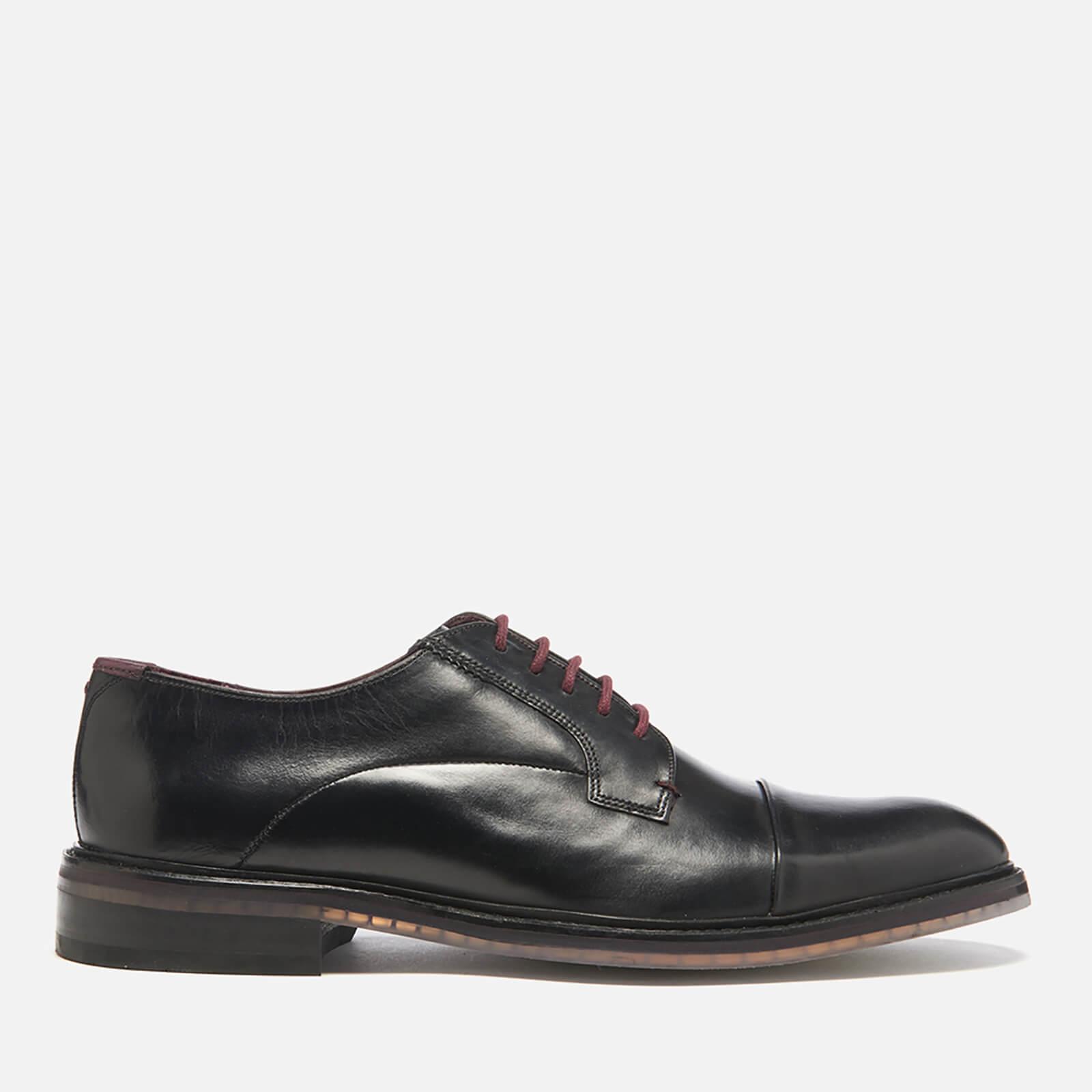 5de2dc7d1eb3e Ted Baker Men s Aokii Burnished Leather Toe Cap Derby Shoes - Black ...