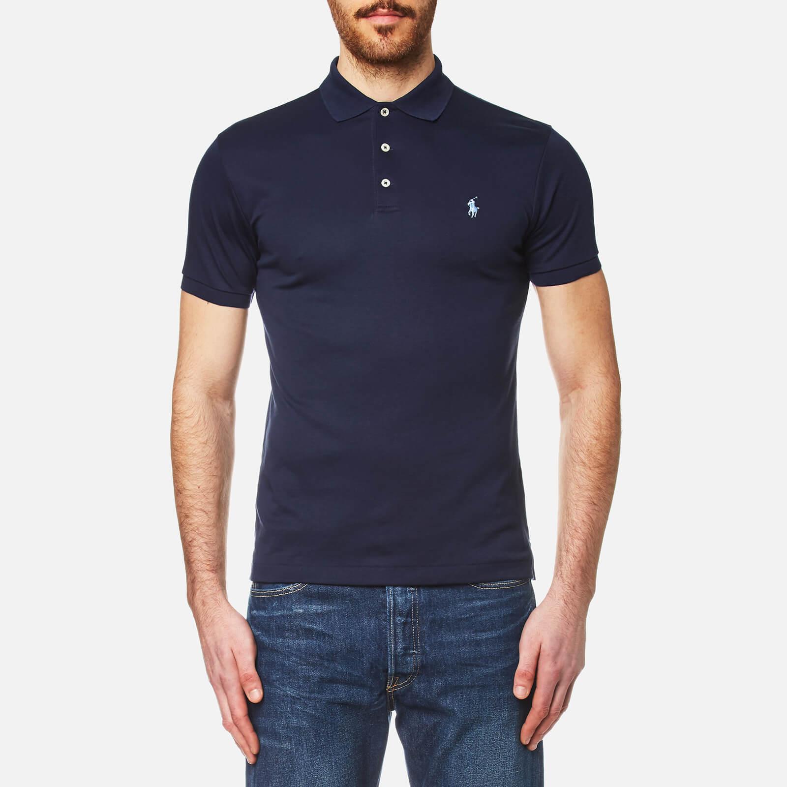 Polo Ralph Lauren Mens Pima Cotton Slim Fit Polo Shirt Navy