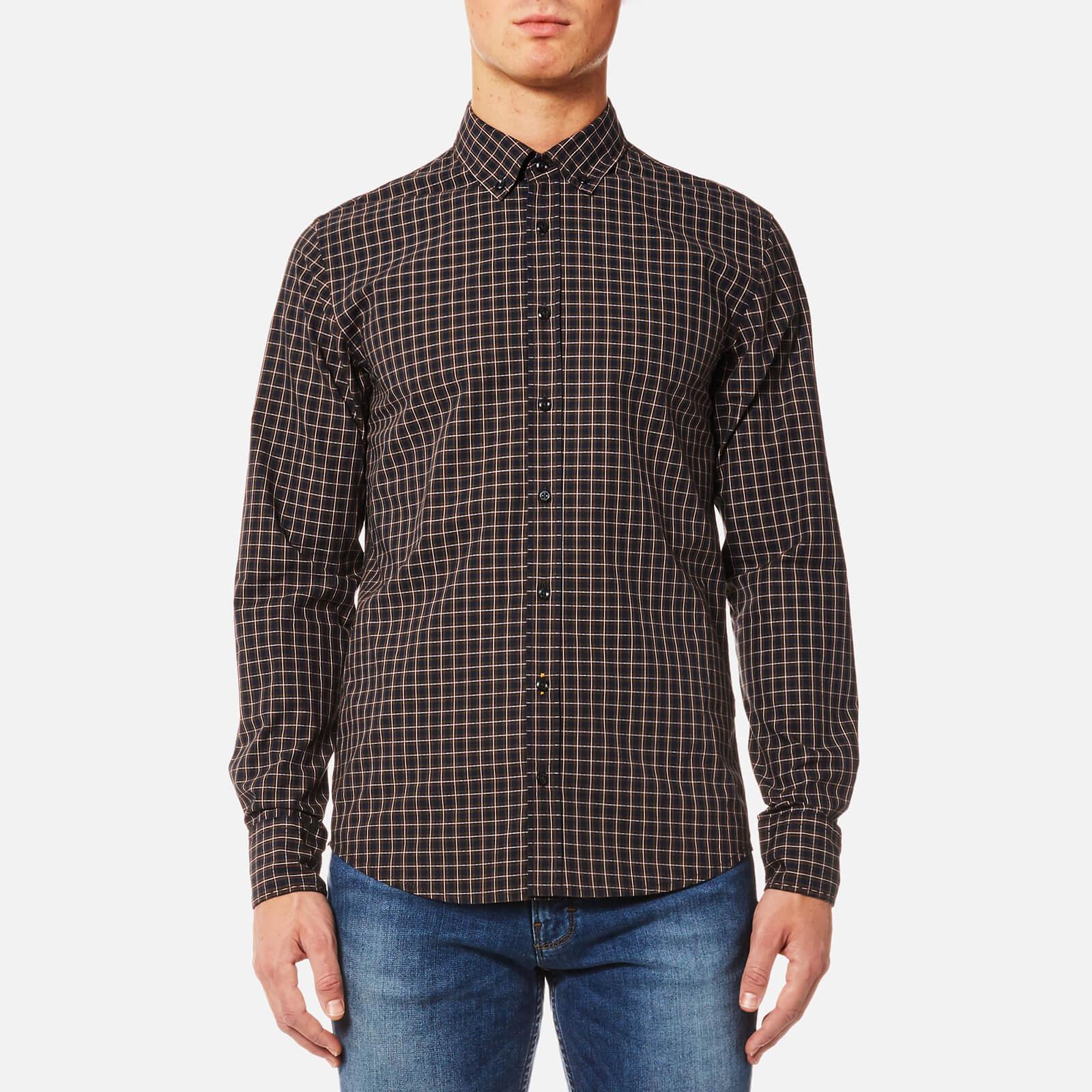 BOSS Orange Men's Epreppy Button Down Check Shirt - Open Red