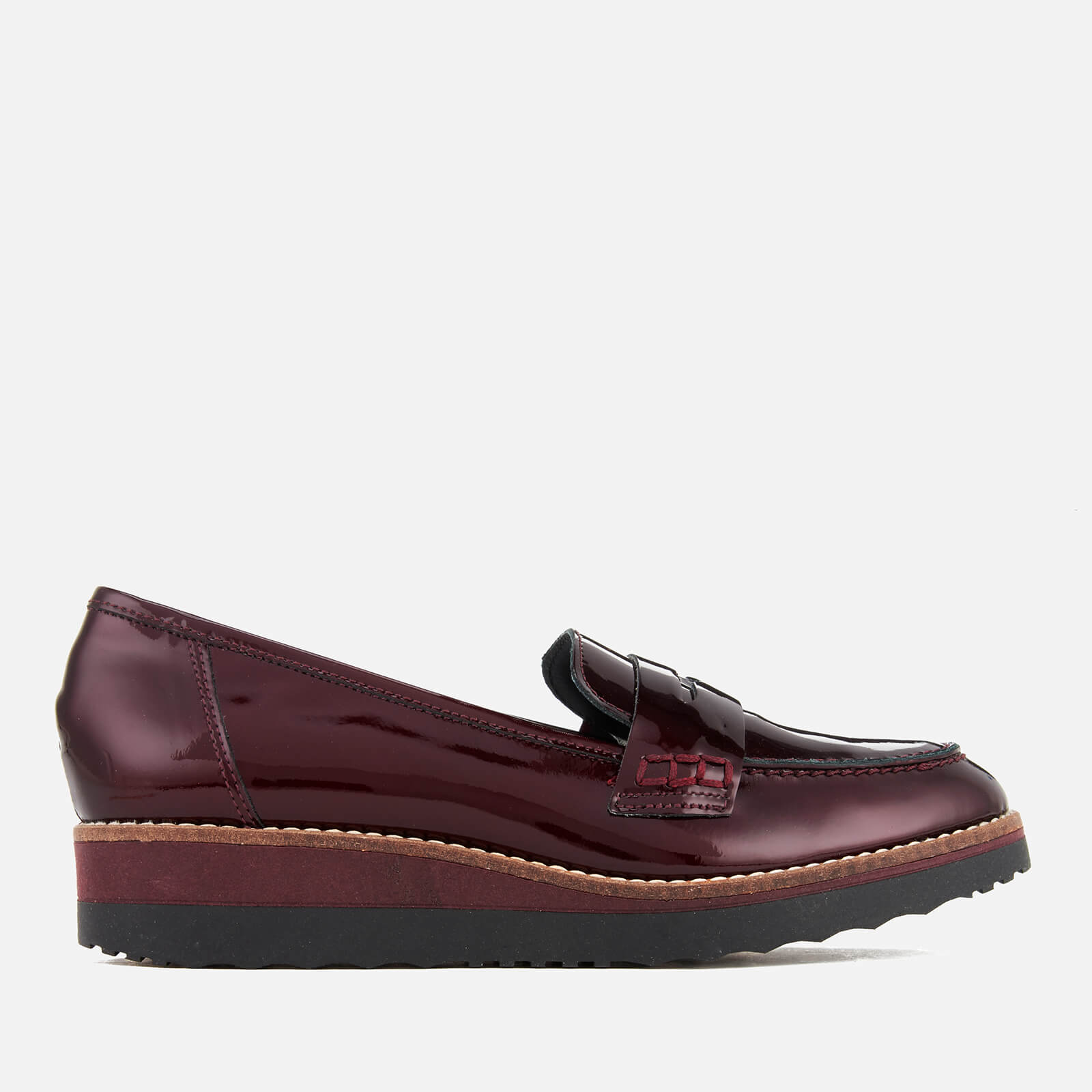 6798a6f3935 Dune Women s Graphic Patent Leather Loafers - Burgundy