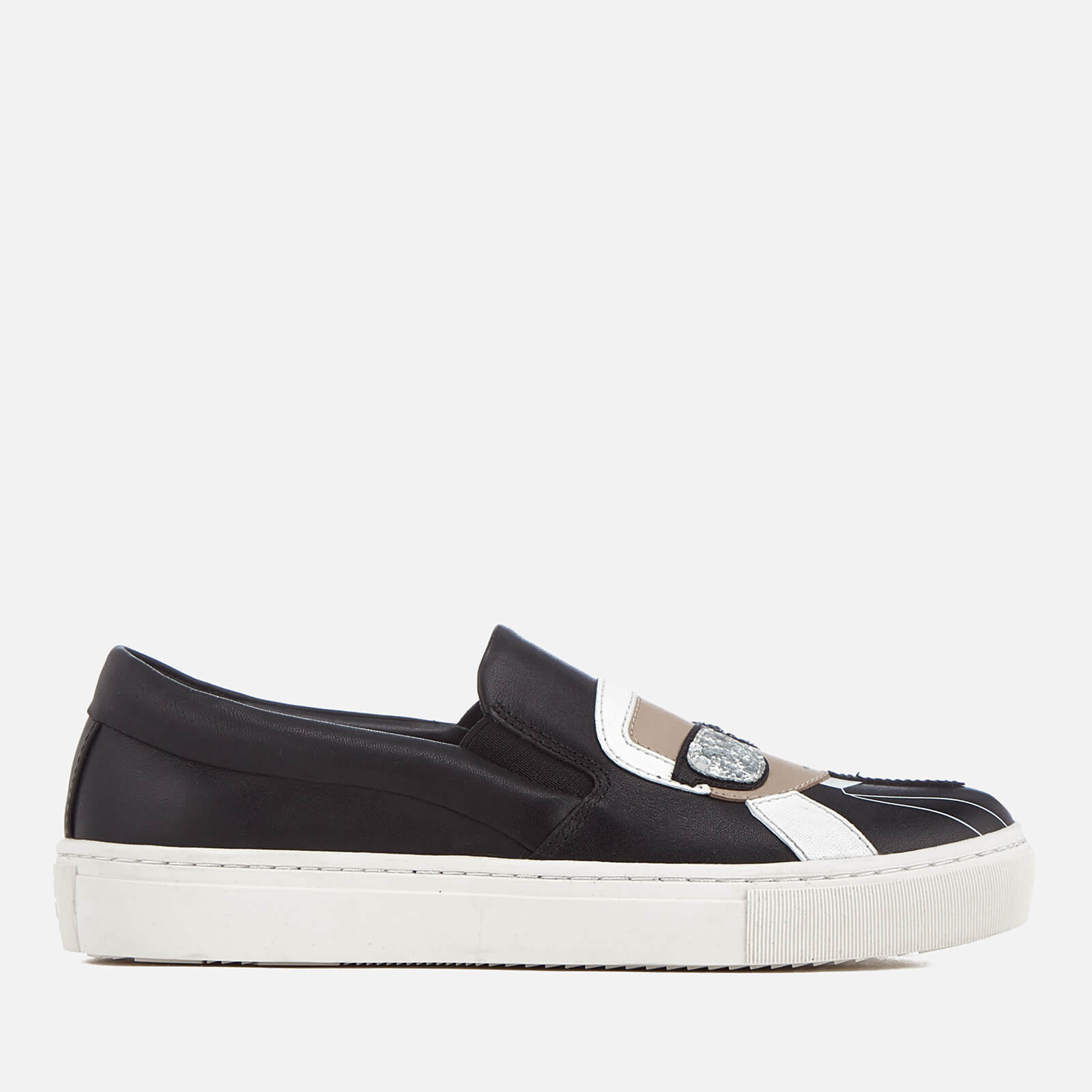 Karl Lagerfeld Women's Kupsole Leather Karl Ikonic Slip-On Trainers - Black