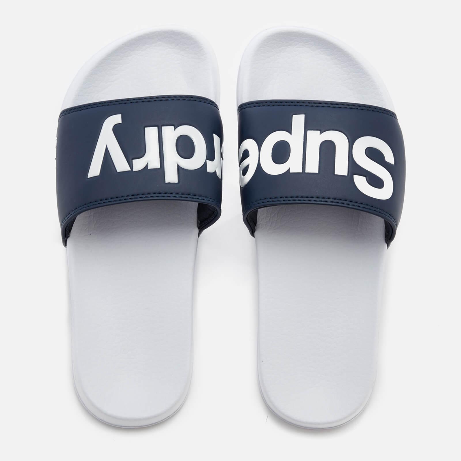 80174ff23 Superdry Women s Pool Slide Sandals - Navy Optic