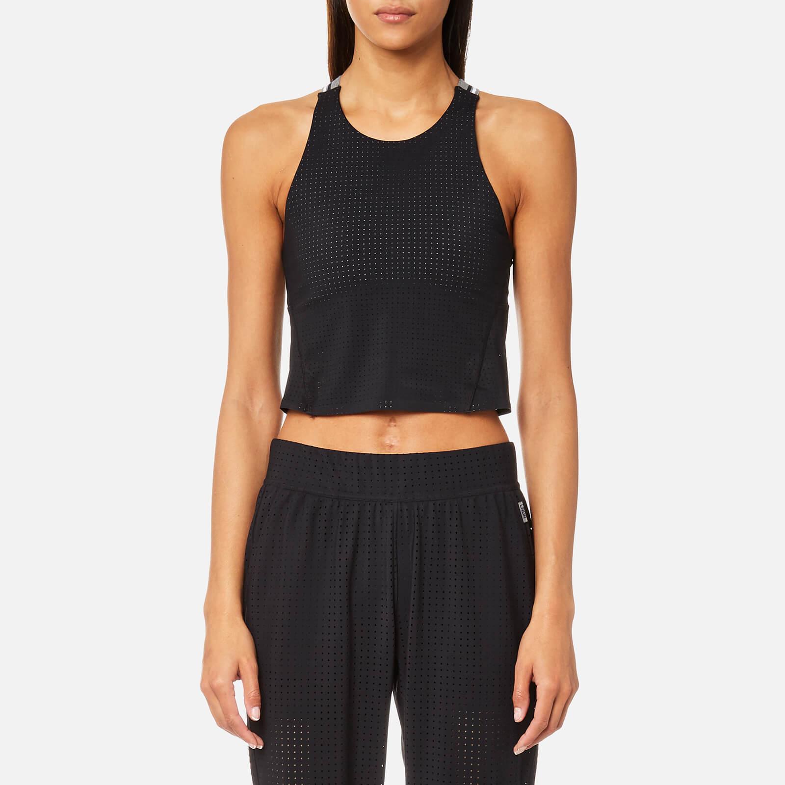 LNDR Women's Jog Crop Top - Black