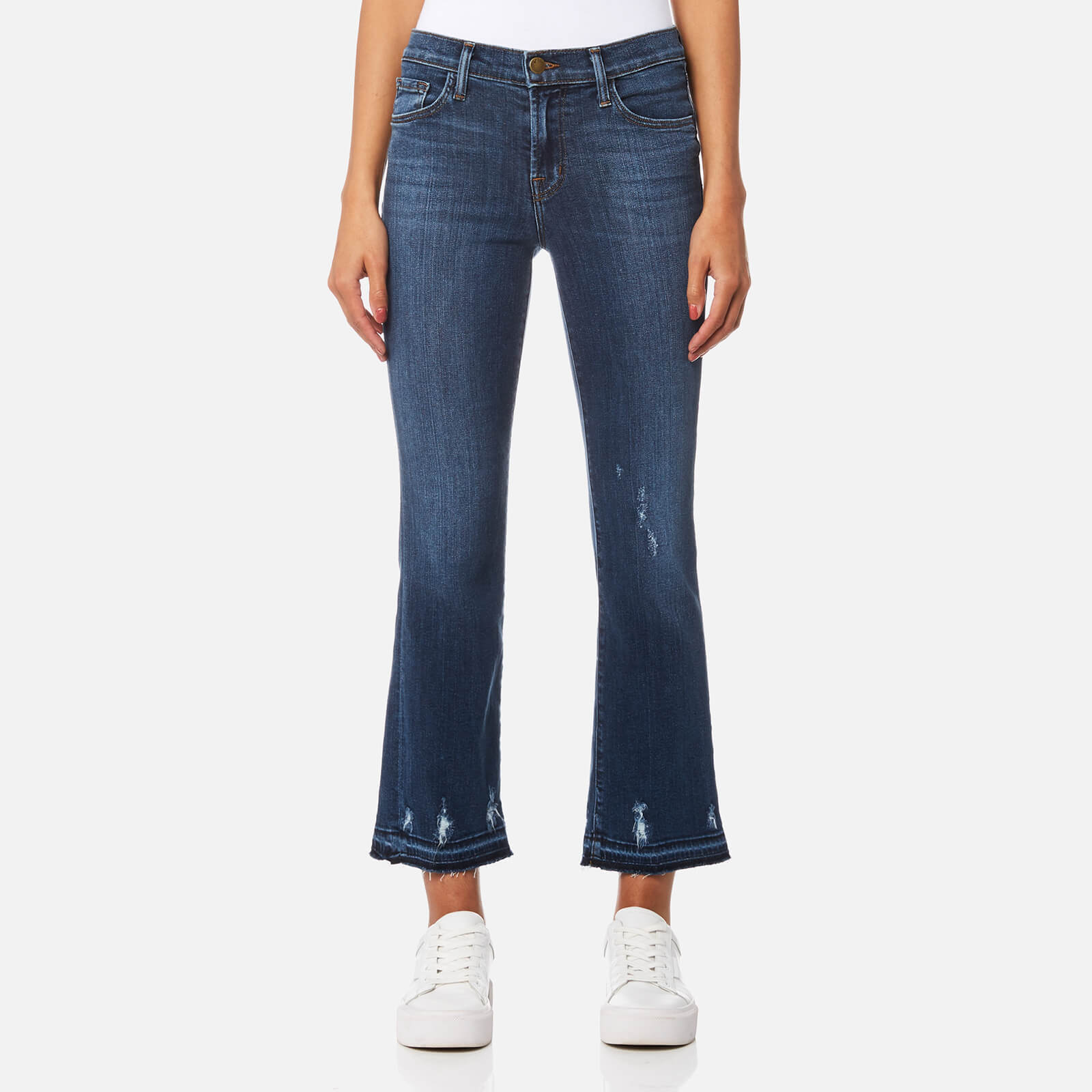 Eastbay For Sale J Brand Woman Cropped Mid-rise Bootcut Jeans Pink Size 29 J Brand Discount Fashion Style L090sVRzCK
