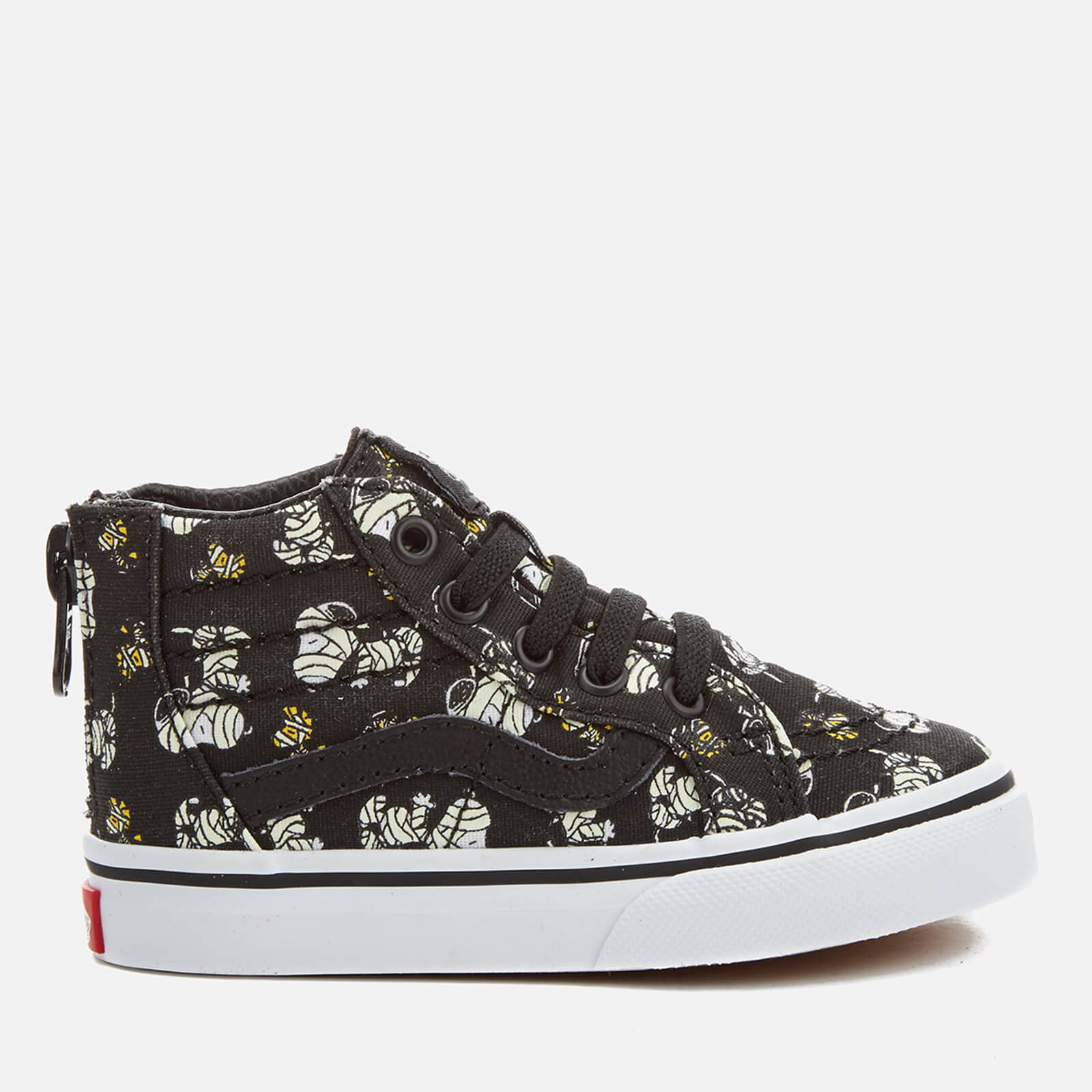 Vans X Peanuts Toddlers  SK8-Hi Zip Trainers - Glow Mummies Black 304ba29bb