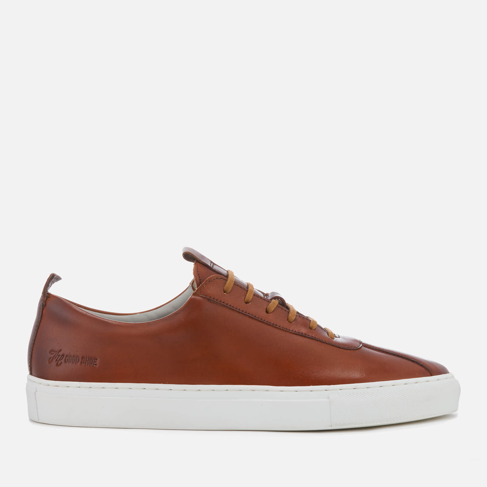 f5f2926836 Grenson Men's Sneaker 1 Hand Painted Leather Cupsole Trainers - Tan