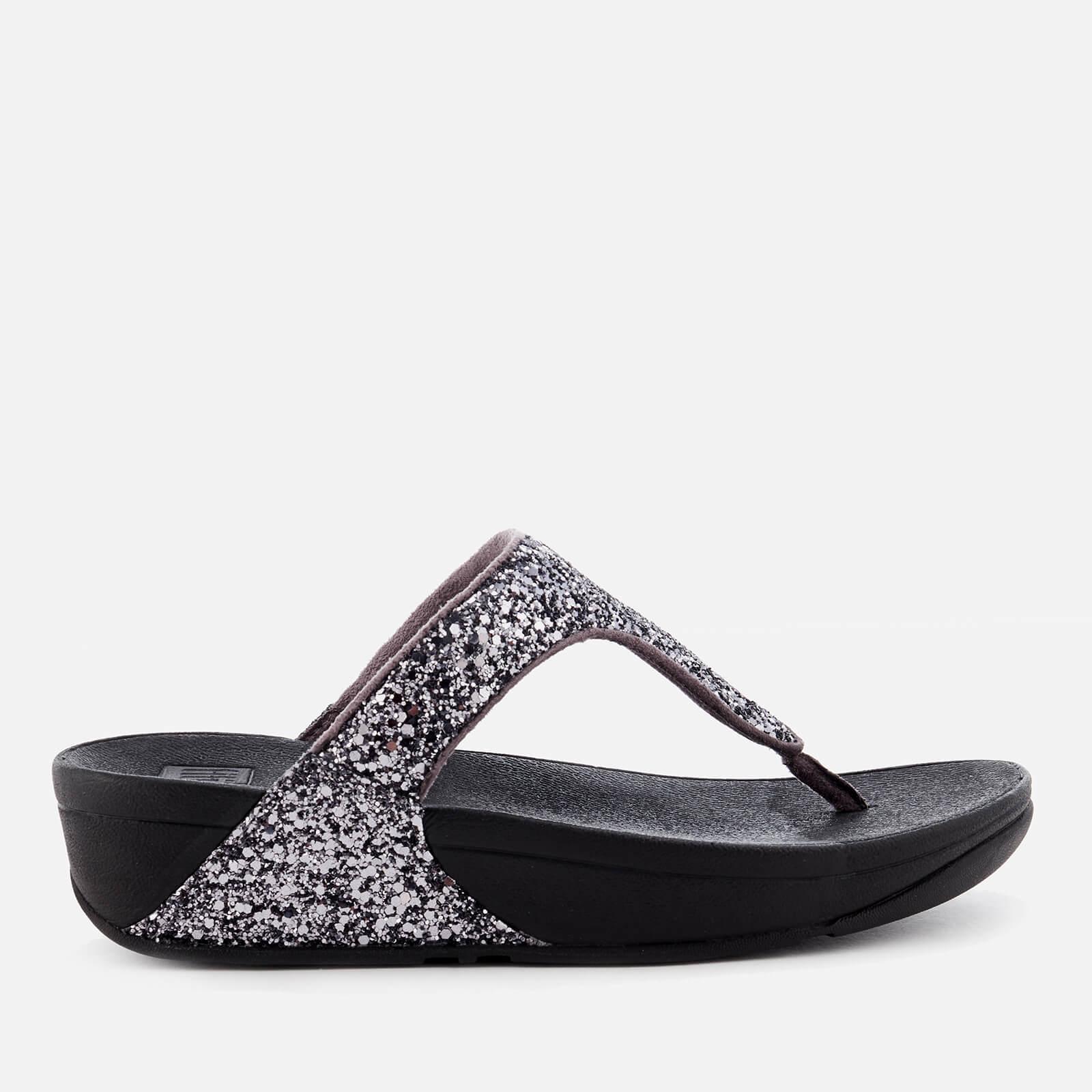 4f43d9b430f9a6 FitFlop Women s Glitterball Toe Post Sandals - Pewter