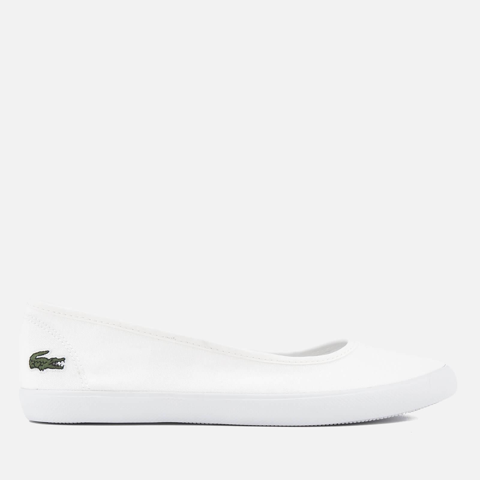 886de85df Lacoste Women s Marthe BL 1 Canvas Ballet Pumps - White