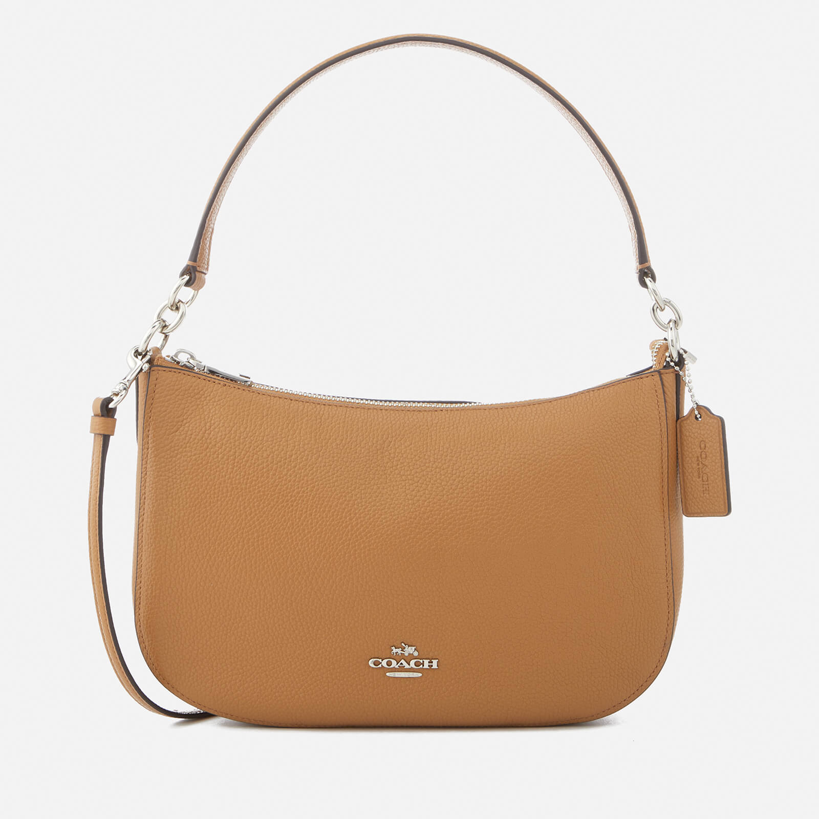 Coach Luxury Accessories Shop Online At Coggles Swagger 20 In Pebbled Leather Peach Womens Chelsea Cross Body Bag Tan