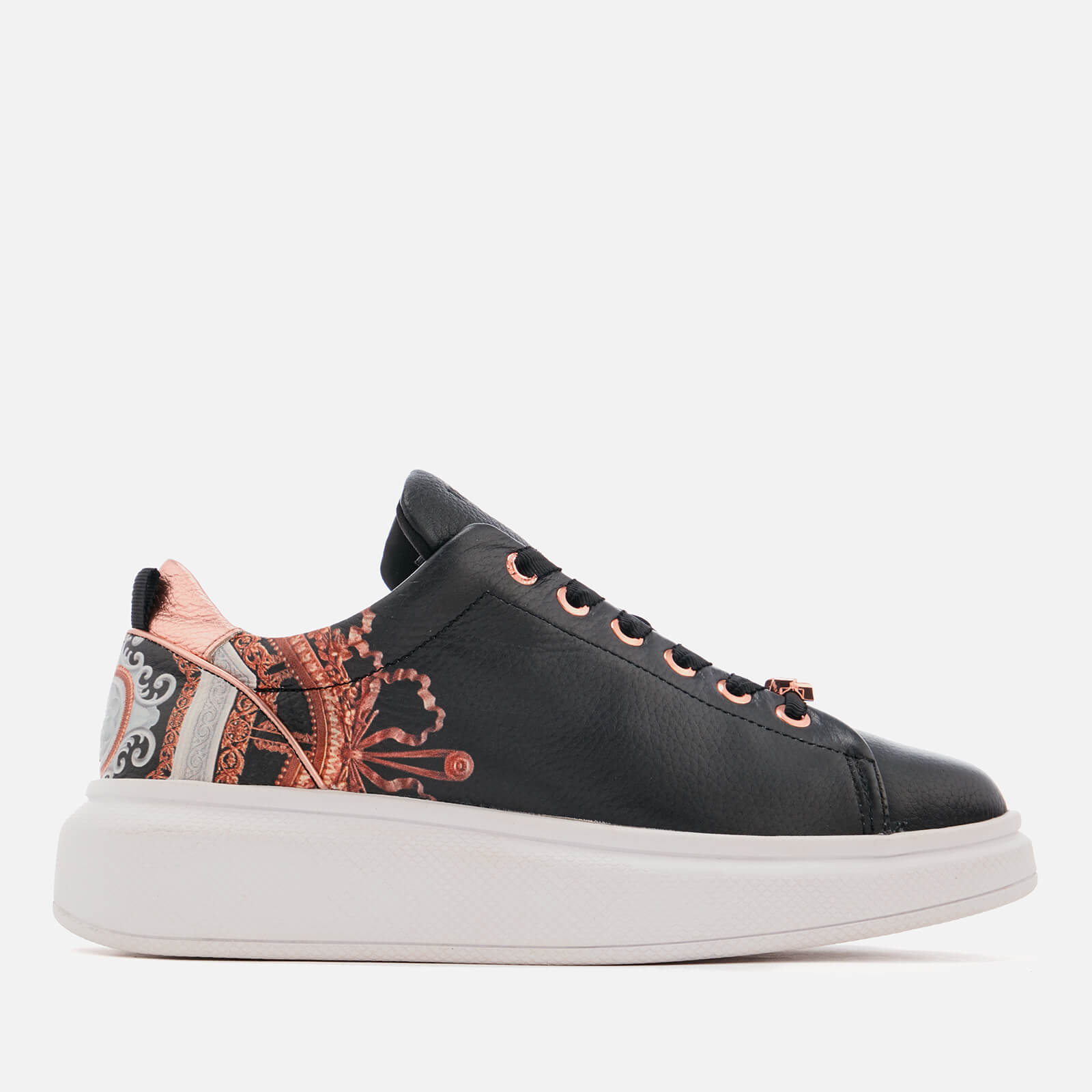 768ae0a1955c Ted Baker Women s Ailbe Leather Platform Trainers - Black Versailles ...