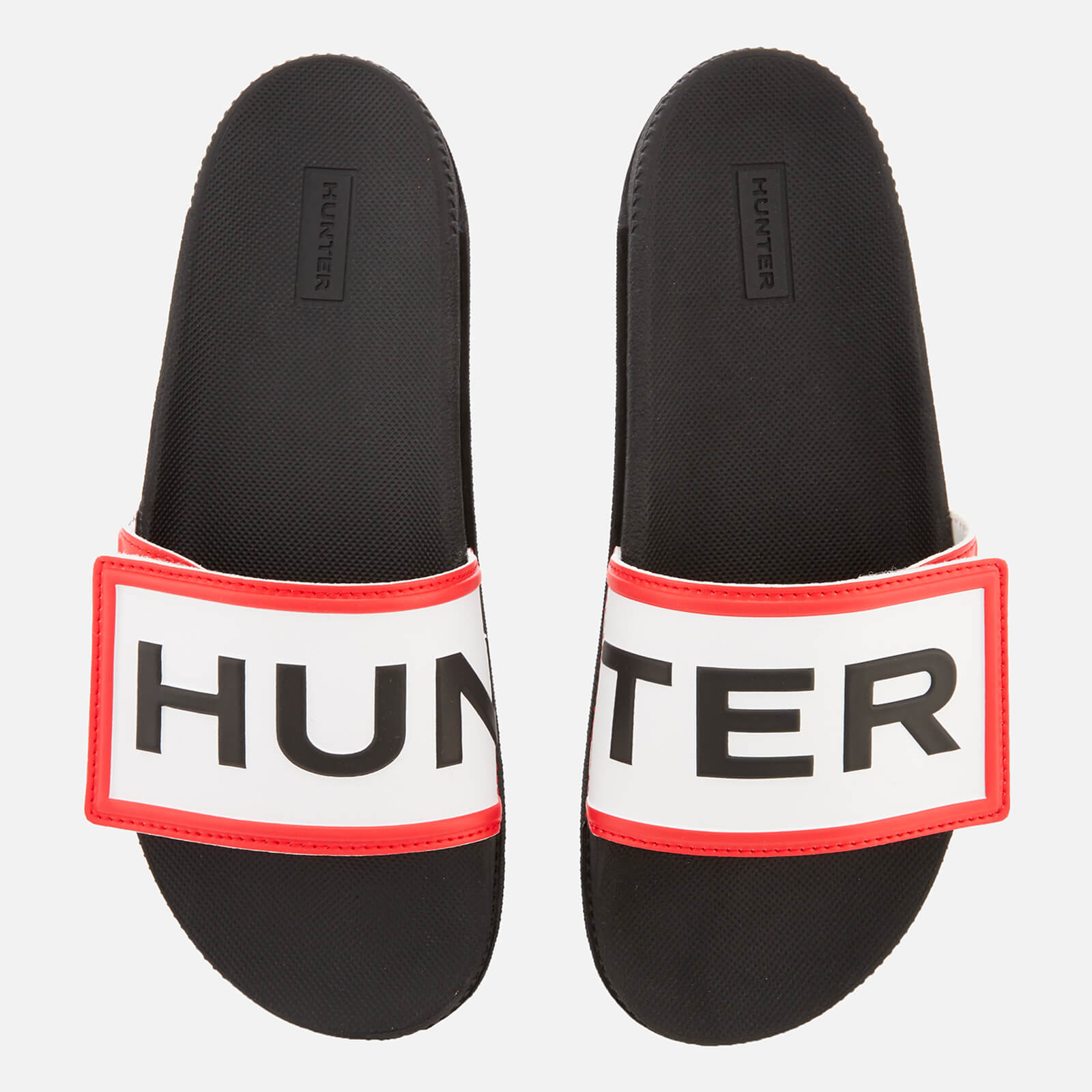 5e07023f338cb3 Hunter Women s Original Adjustable Logo Slide Sandals - Black
