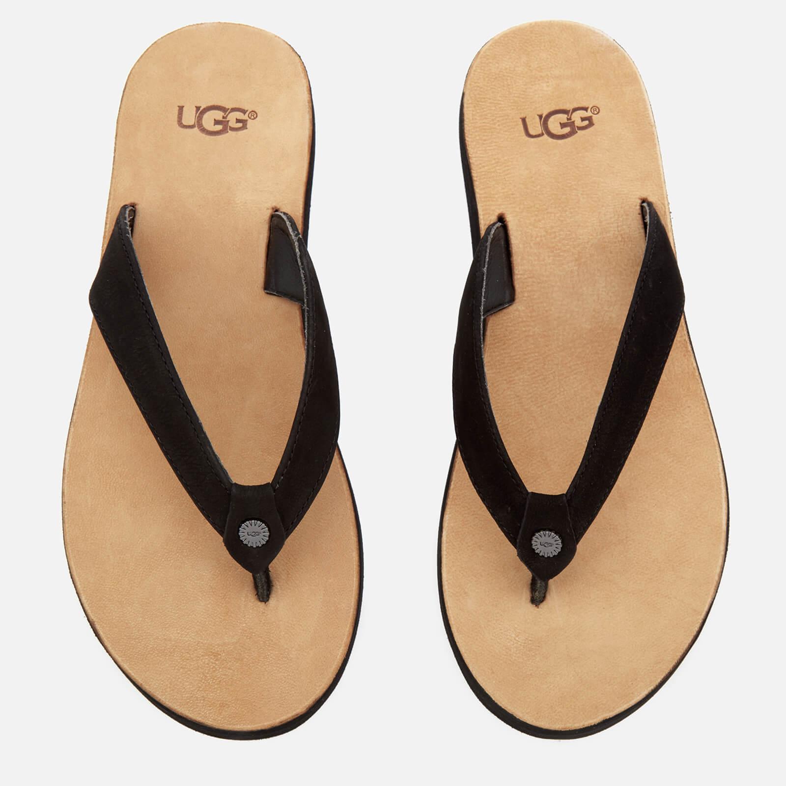 b7682e278a10 UGG Women s Tawney Flip Flops - Black