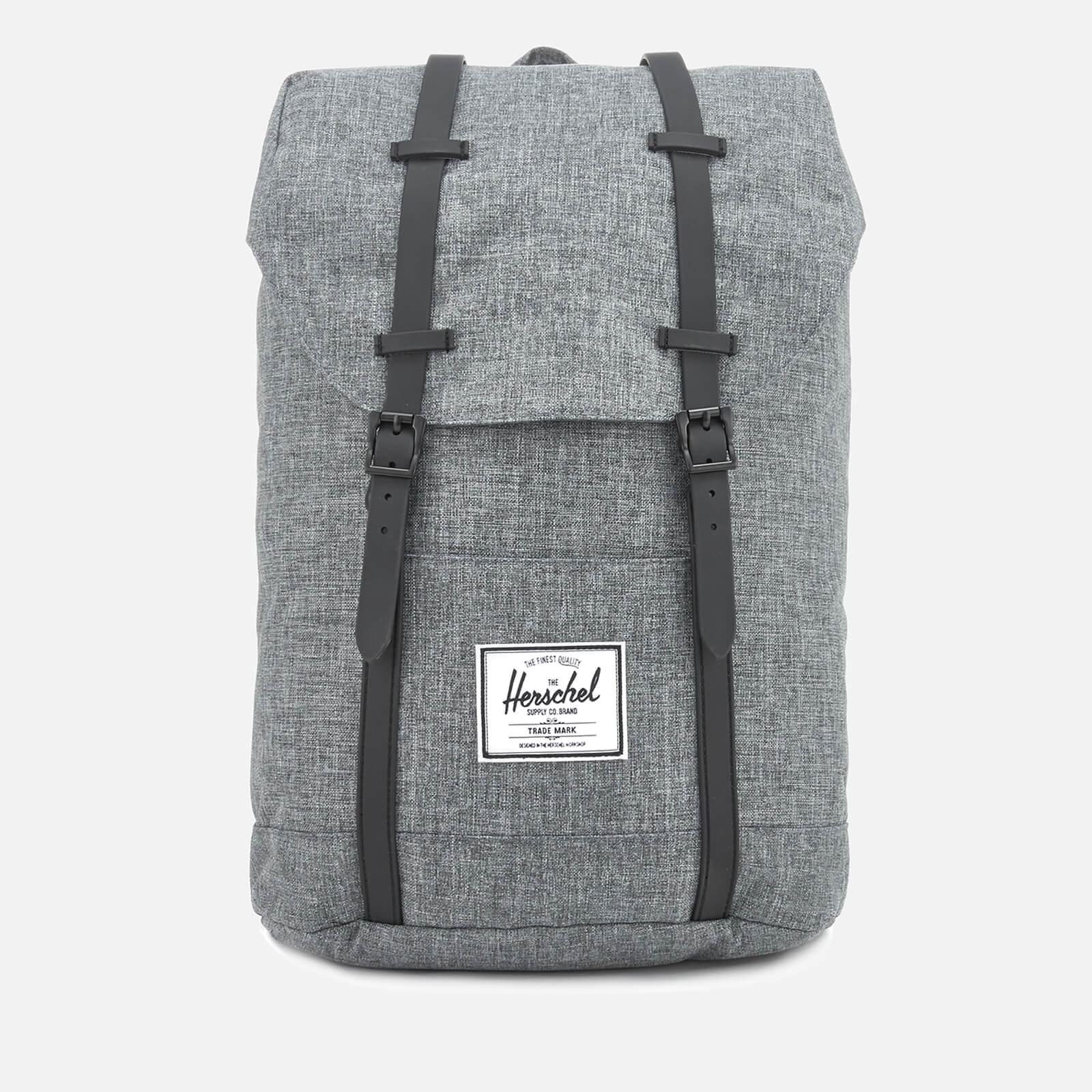 Herschel Supply Co. Men s Retreat Backpack - Raven Crosshatch Black ... 500d118f47d4b