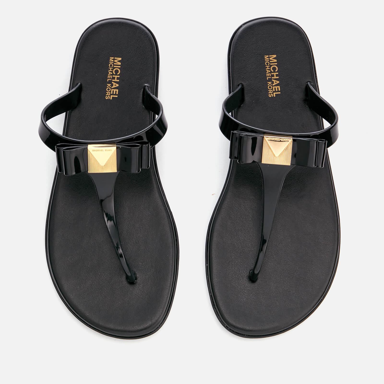 9145e5dc9e8 MICHAEL MICHAEL KORS Women s Caroline Jelly Toe Post Sandals - Black ...