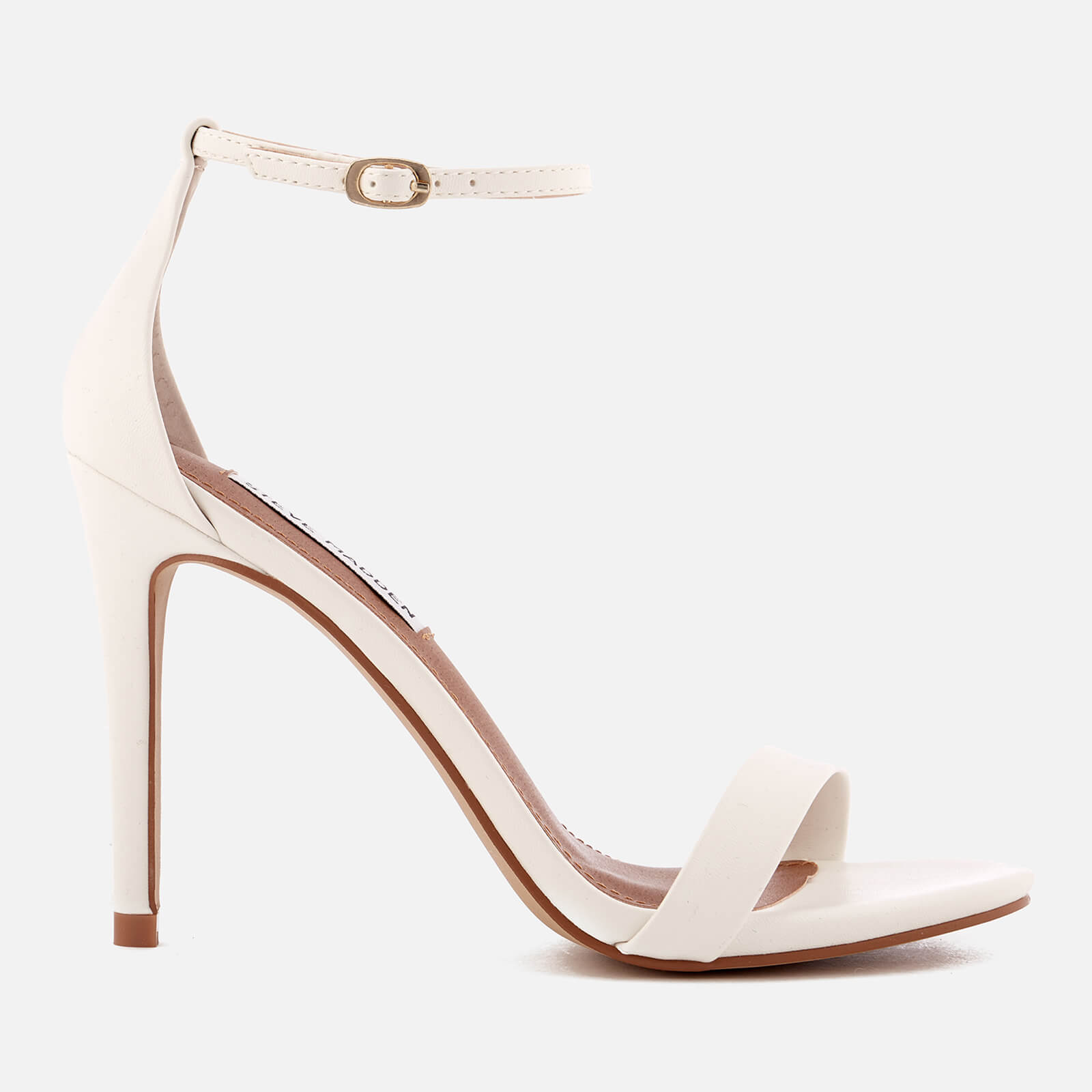7dd656922092 Steve Madden Women s Stecy Barely There Heeled Sandals - White ...