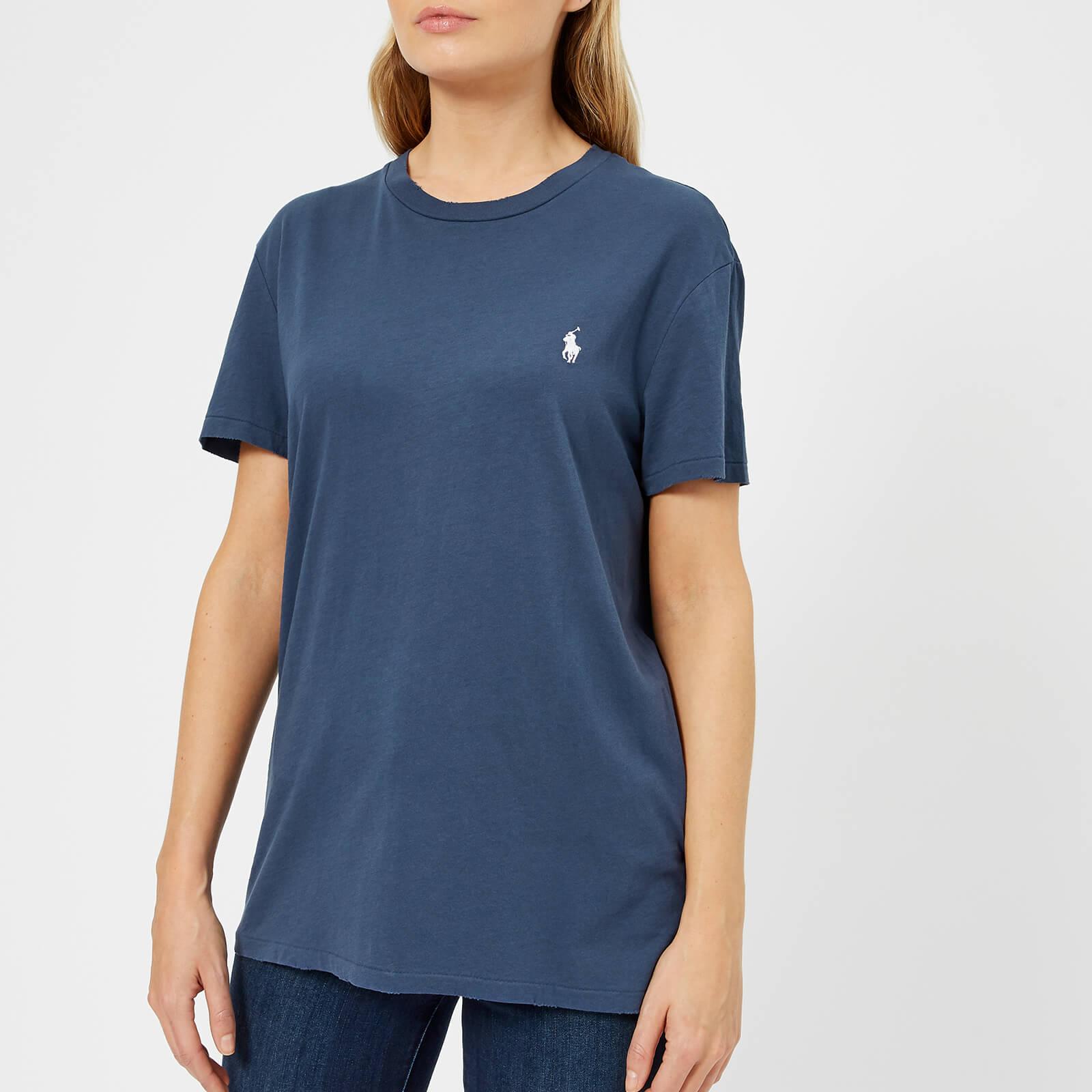 Lauren Oversized Logo Rustic Shirt Ralph T Polo Navy Women's qO7Itw55