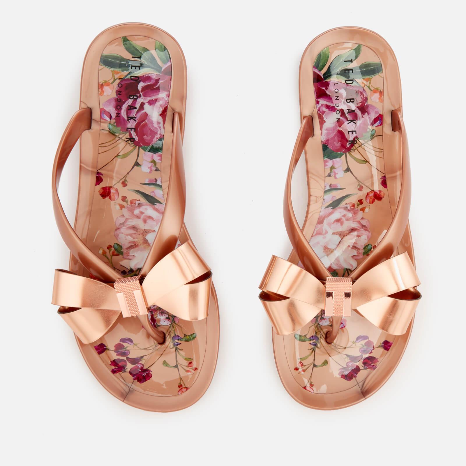e8668ac2d59f6 Ted Baker Women s Susziep Bow Flip Flops - Serenity Rose Gold