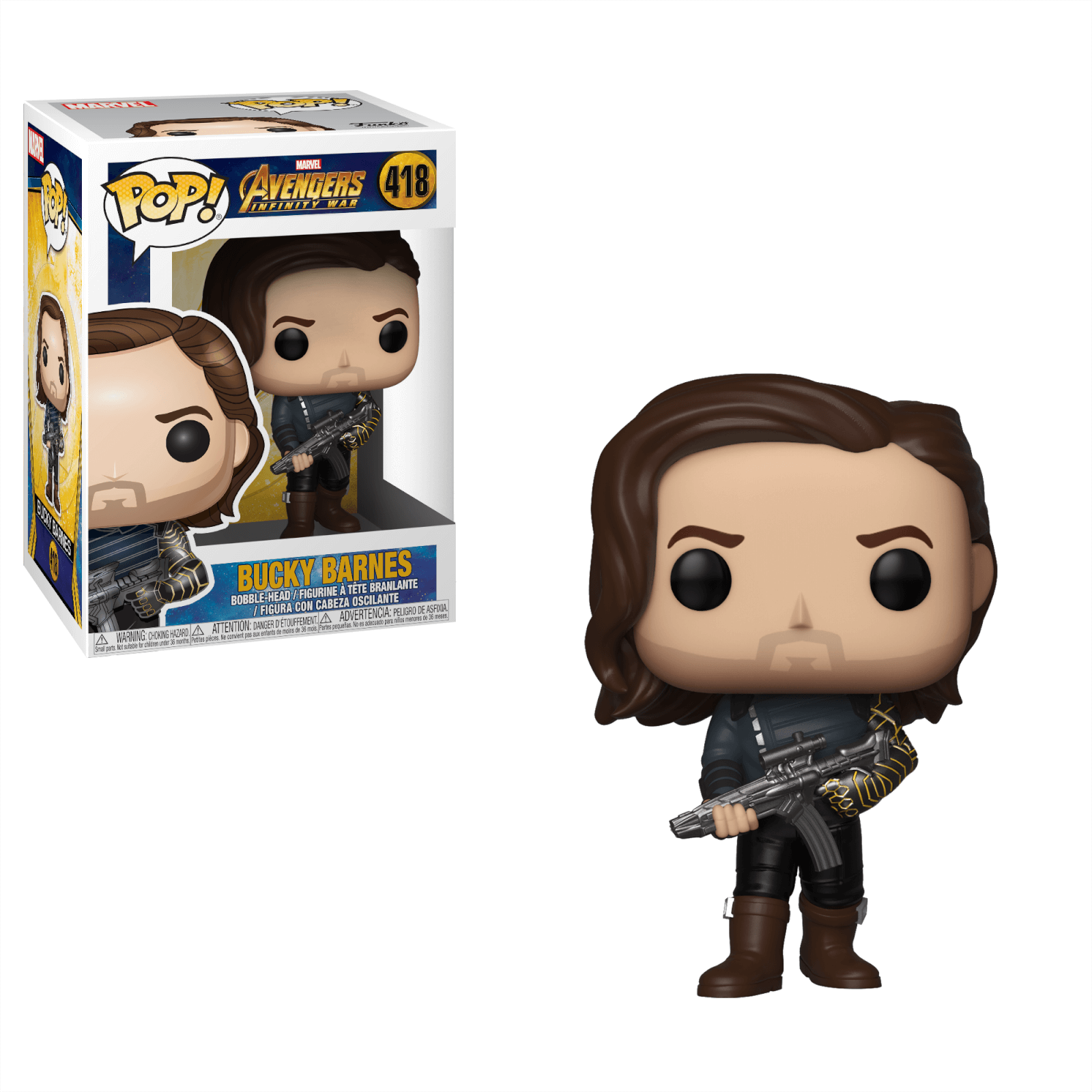 Marvel Infinity War Bucky With Weapon Funko Pop Vinyl Pop In A Box Canada