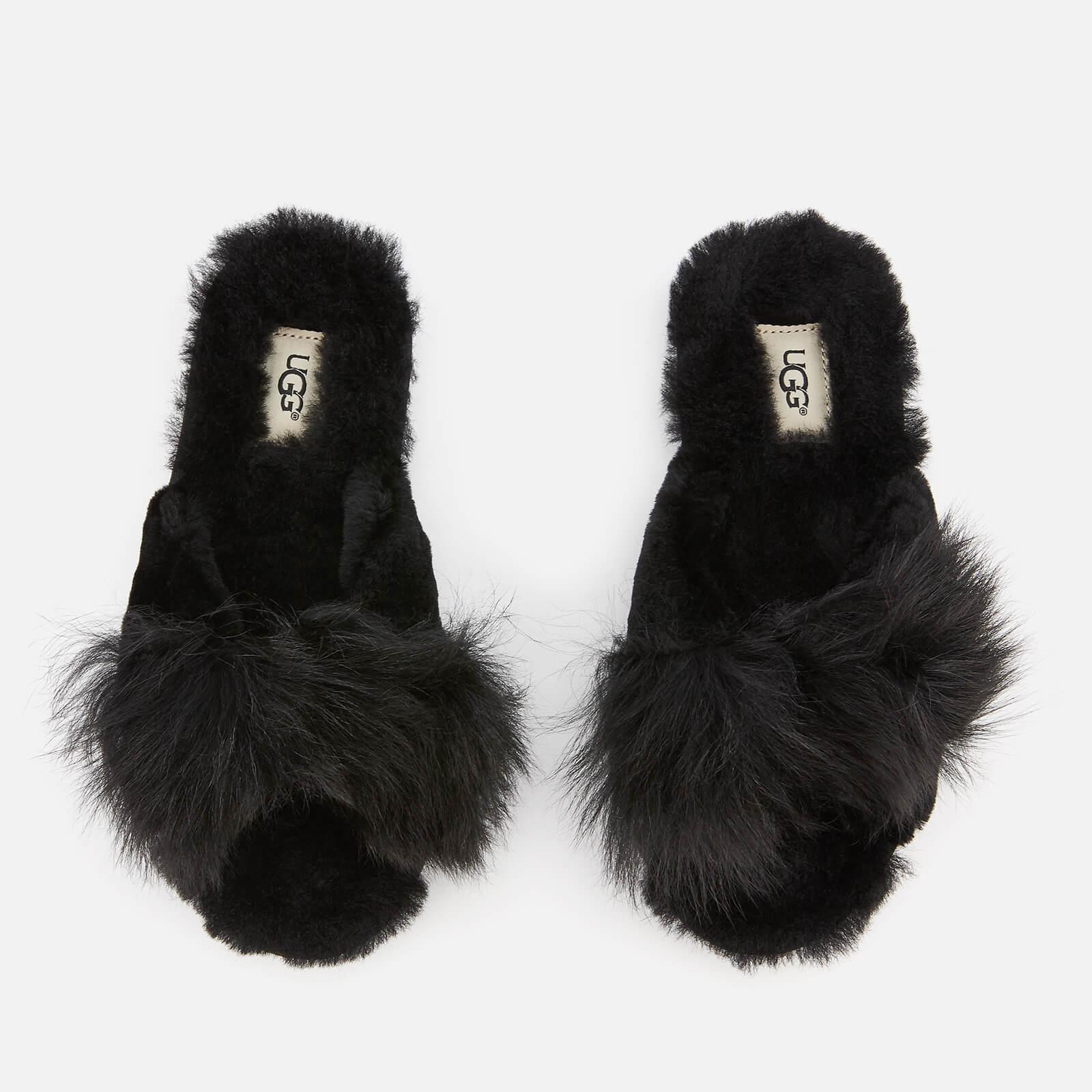832d843a9f UGG Women s Mirabelle Sheepskin Slide Slippers - Black