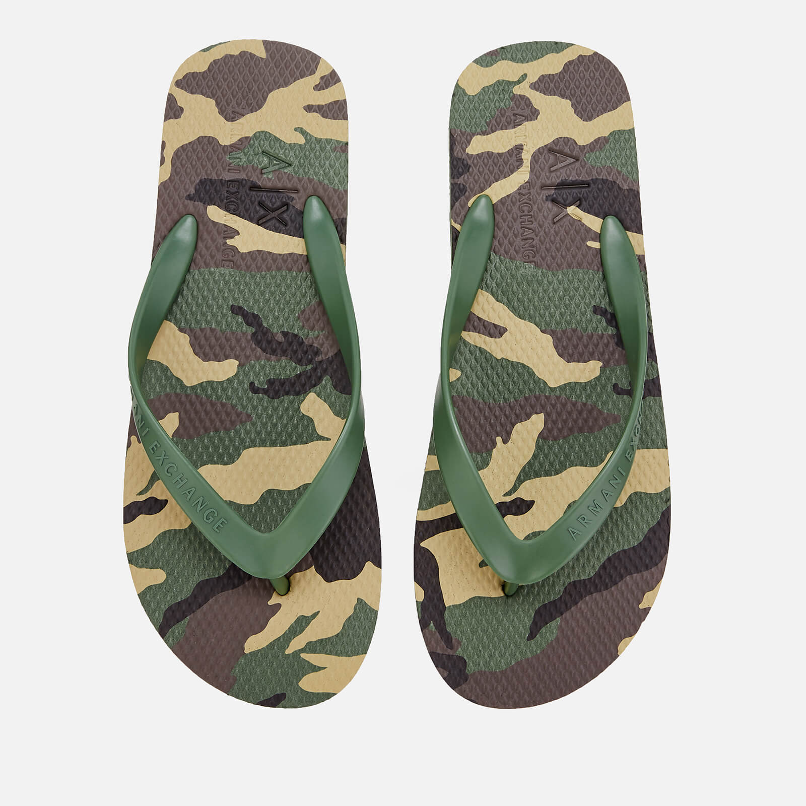 bbaff7c0b Armani Exchange Men s Printed Flip Flops - Military Green