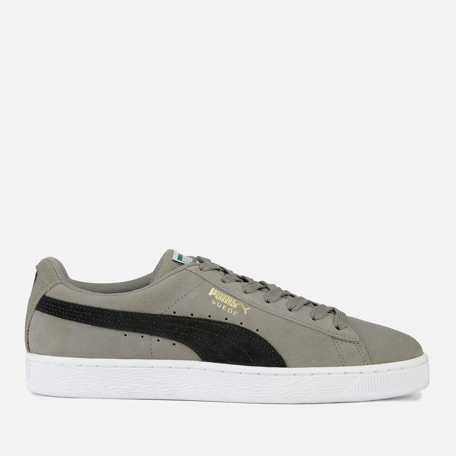 6da682385bd1bc Puma Men s Suede Classic Trainers - Charcoal Grey Puma Black